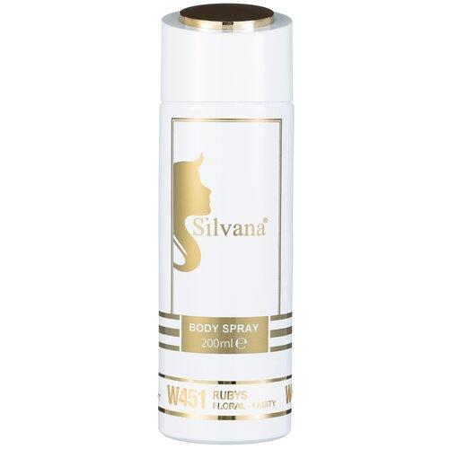Купить Парфюмированный дезодорант-спрей для тела Silvana Rubys, 200ml