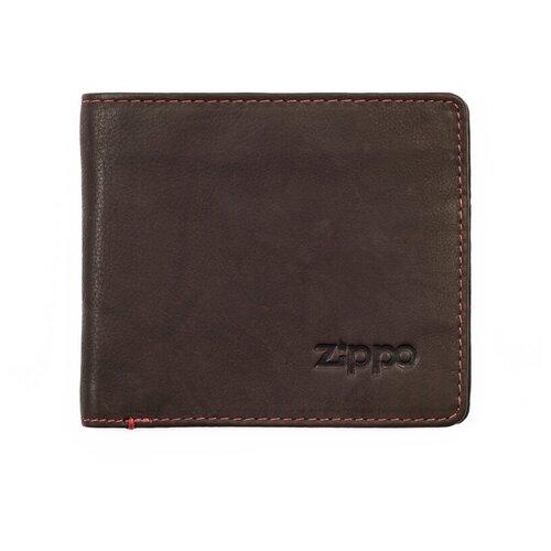Фото - Портмоне Zippo 2005118, натуральная кожа мокко портмоне zippo серо чёрный камуфляж натуральная кожа 11 2x2x8 2 см