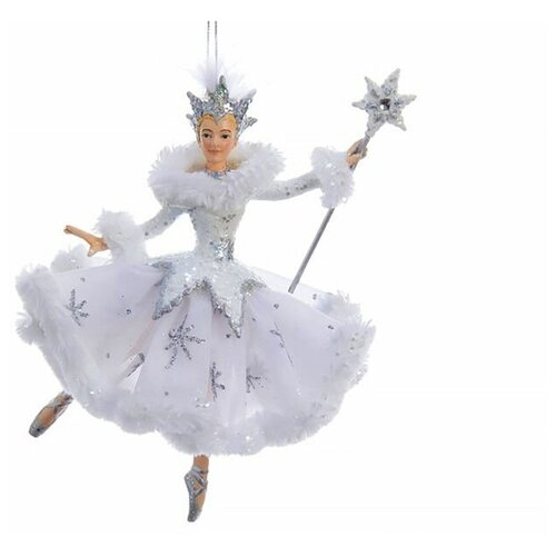 Ёлочная игрушка СНЕЖНАЯ КОРОЛЕВА балерина, полистоун, текстиль, 17.2 см, Kurts Adler C9256 недорого