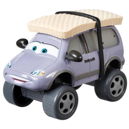 Машинка Mattel Cars Лерой Траффик с зимними шинами (DXV90/GRP87) 1:55, серый/синий mattel машинка cars пол лошсил меняет цвет