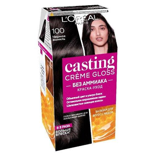 Купить L'Oreal Paris Casting Creme Gloss стойкая краска-уход для волос, 100, Черная ваниль