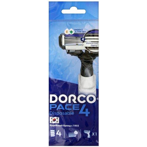 Бритвенный станок Dorco Pace 4 (одноразовый), 1 шт. бритвенный станок dorco pace 4 одноразовый 4 шт