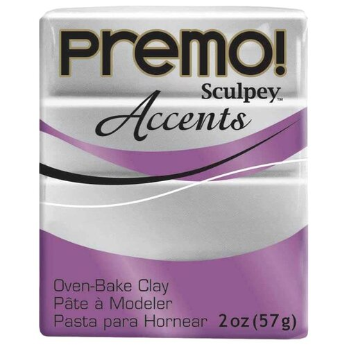 Купить Полимерная глина Sculpey Premo, цвет - 5129 под серебро, 57 г, Глина