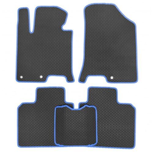 Комплект ковриков для салона ЕВА Dodge Caliber 2006 - 2013 (синий кант)Vicecar