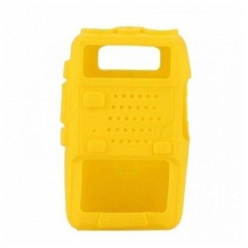 Чехол силиконовый для радиостанций Baofeng UV-5R желтый