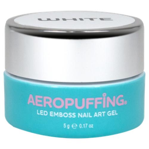 Купить Краска гелевая Aeropuffing Led Emboss Nail Art Gel белый