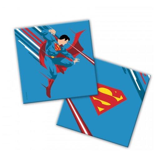 Купить Superman. Салфетки бумажные трехслойные (синие) 33*33 см, 20 шт, ND Play