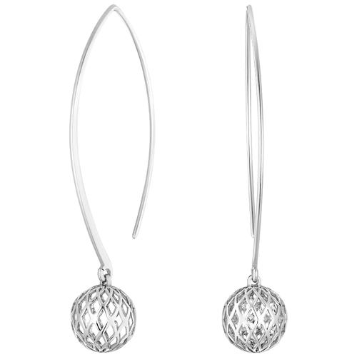 Jeweller Karat Серьги дуги серебряные 2029048/94