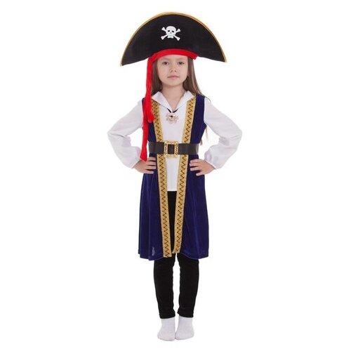 Купить Карнавальный костюм Страна Карнавалия Пиратка в шляпе , размер 34, рост 134-140 см, Карнавальные костюмы