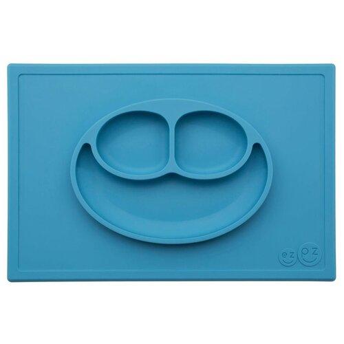 Купить Тарелка EZPZ Happy mat, blue, Посуда