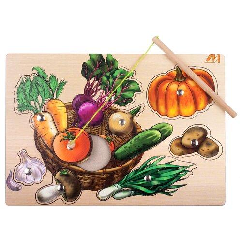 Фото - Рыбалка Деревянные игрушки Овощная корзинка бежевый/оранжевый/зеленый деревянные игрушки topbright магнитная игра рыбалка 26 элементов