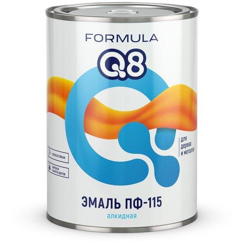Эмаль алкидная (А) Formula Q8 ПФ-115 синий 0.9 кг эмаль пф 115 formula q8 желтая 1 9кг арт эк000127373