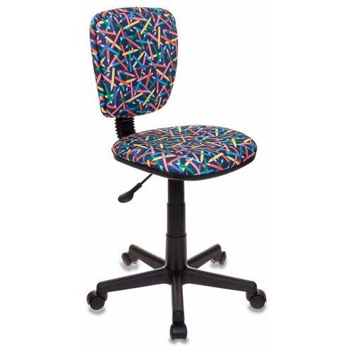 Компьютерное кресло Бюрократ CH-204NX детское, обивка: текстиль, цвет: синий карандаши компьютерное кресло бюрократ ch 204nx детское детское обивка текстиль цвет синий карандаши