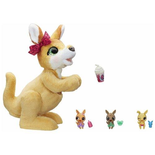 Интерактивная мягкая игрушка FurReal Friends кенгуру Джози и ее малыши E6724 бежевый