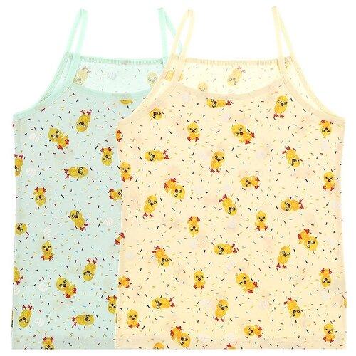 Купить Майка для девочек 43596, Цвет: Микс, Размер: 8/9, 5шт. в упаковке, Donella, Белье и купальники
