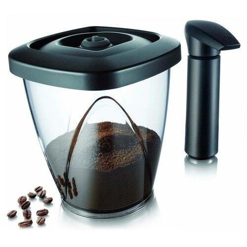 Tomorrow's kitchen Вакуумный контейнер Coffee Saver, 17.5x19 см, черный/прозрачный вакуумный контейнер 2 3 л 26 7х14 7 см 28743606 tomorrow s kitchen