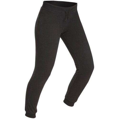 Легинсы для треккинга в горах флисовые женские TREK 100, размер: S, цвет: Черный FORCLAZ Х Декатлон