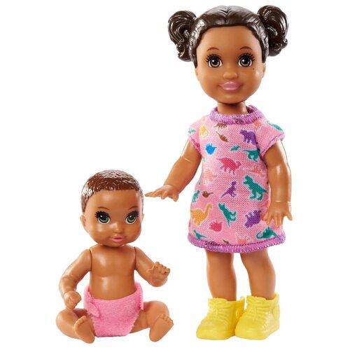 Фото - Набор кукол Barbie Скиппер Няня с малышом 2, GRP08 кукла mattel barbie скиппер няня в клетчатой юбке с малышом и аксессуарами grp11