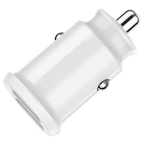Зарядка в прикуриватель на 2 телефона 2.4A для Apple iPhone и Android / Автомобильная зарядка 2USB 2.4A / Зарядное устройство в авто для смартфона Эпл Айфон, Самсунг, Хуавей, Хонор, Сяоми (Ксиоми)(Белый)