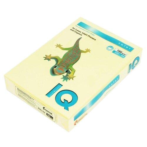 Фото - Бумага IQ Color А4 160 г/м² 250 лист., желтый YE23 бумага iq color а4 160 г м² 250 лист 5 пачк золотистый go22
