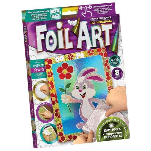 Danko Toys Аппликация цветной фольгой Foil Art Заяц (FAR-01-07) danko toys аппликация цветной фольгой foil art заяц far 01 07