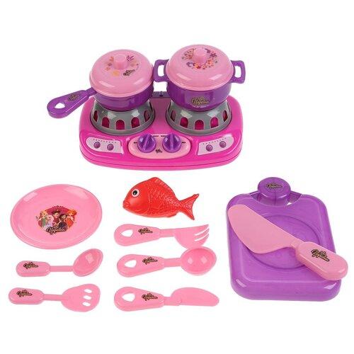 Купить Игровой набор Плита Царевны Играем вместе свет+звук, с аксессуарами, Детские кухни и бытовая техника