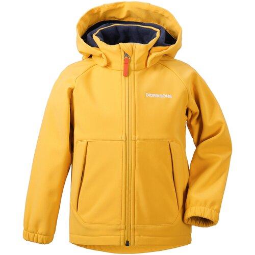 Детская куртка Didriksons Dellen жёлтый цитрус 120