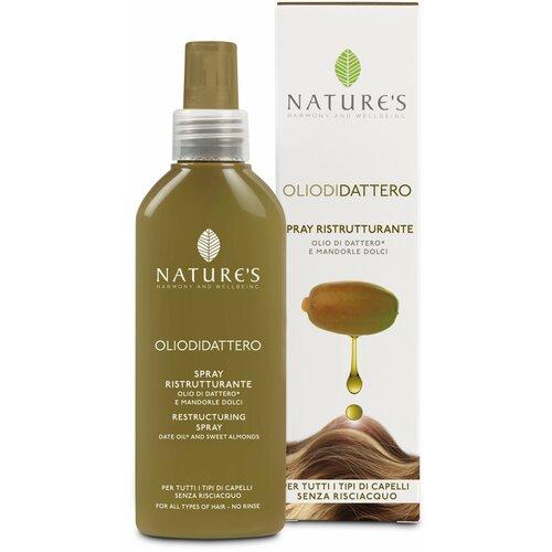 Фото - Nature's OLIO DI DATTERO Sublime Spray Спрей для волос восстанавливающий, 125 мл levissime спрей ног tired legs spray для уставших 125 мл