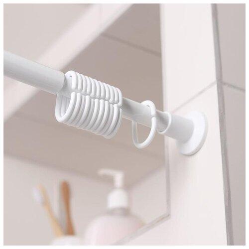 Карниз для ванной комнаты раздвижной 220 см, цвет белый 5187078 карниз для ванной комнаты раздвижной 70 120 см 22 мм цвет хром