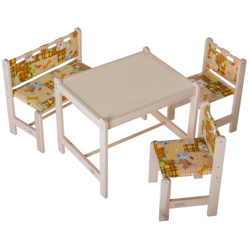 Комплект мебели стол + стул Малыш 4 ГНОМ