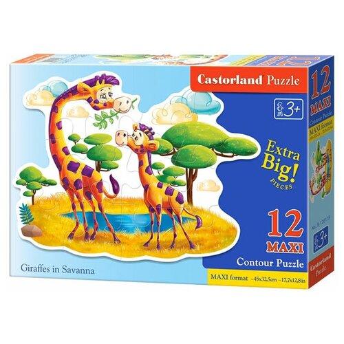 Купить Пазл Castorland Giraffes in Savanna (B-120178), 12 дет., Пазлы