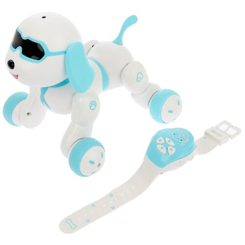 Фото - Робот радиоуправляемый, интерактивный Собака, световые и звуковые эффекты, №SL-02977 4376317 радиоуправляемые игрушки 1 toy интерактивный радиоуправляемый щенок робот дружок