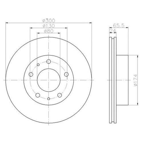 Фото - Тормозной диск Textar 92116703 для Citroen JUMPER; Fiat DUCATO; Peugeot BOXER тормозной диск задний miles k010676 280x16 для citroen jumper fiat ducato peugeot boxer