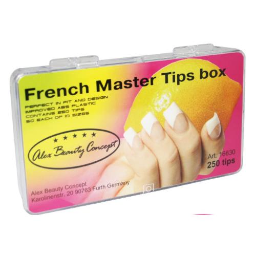 Купить Типсы FRENCH MASTER TIPS BOX (250 ШТ), Alex Beauty Concept
