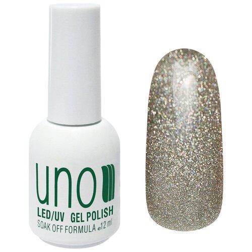Купить Гель-лак для ногтей UNO Color Классические оттенки, 12 мл, 315 Голограммное серебро