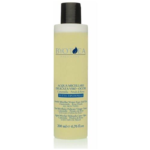 Купить Byotea Мицеллярная вода для чувствительной кожи с ромашкой и шелковым молочком Gentle micellar water face - eyes, 200 мл