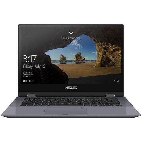 "Ноутбук ASUS VivoBook Flip 14 TP412 (/14""/1920x1080) (/14""/1920x1080)FA-EC404T (Intel Core i3 10110U 2100MHz/14""/1920x1080/4GB/256GB SSD/Intel UHD Graphics/Windows 10 Home) 90NB0N31-M13540 star grey"