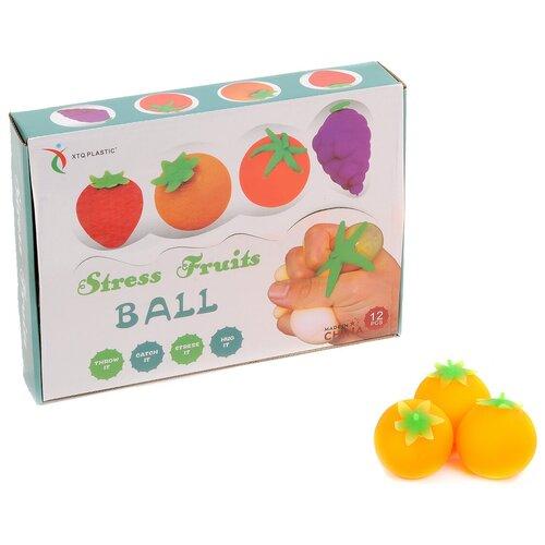 Игрушка-мялка XTQ Plastic Апельсин 12 шт желтый