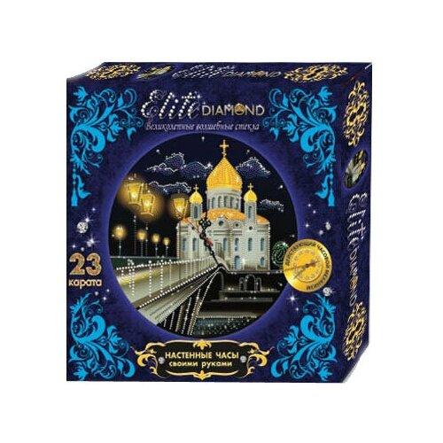 Купить Лапландия Набор алмазной вышивки с часовым механизмом Набор для творчества Elite Diamond Собор (45788) 37.5х25.5 см, Алмазная мозаика