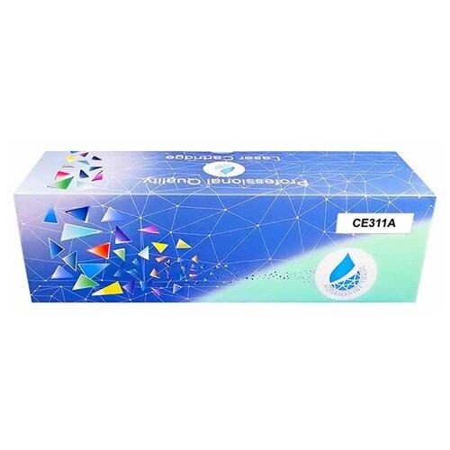 Фото - Картридж Aquamarine CE311A (совместимый с HP CE311A / HP 126A, HP 130A), цвет - голубой, на 1000 стр. печати картридж aquamarine cb541a совместимый с hp cb541a hp 125a цвет голубой на 1800 стр печати