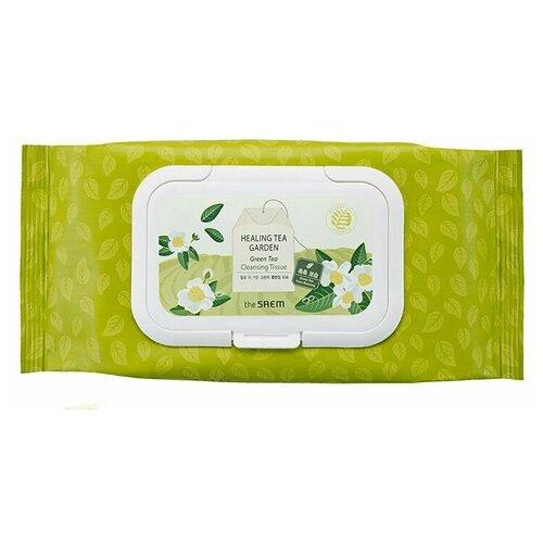 Фото - The Saem салфетки очищающие с экстрактом зеленого чая Healing Tea Garden the saem пенка для умывания с экстрактом чая ройбуш healing tea garden 150 мл