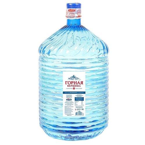 Минеральная питьевая вода Горная вершина негазированная, ПЭТ для кулера, 19 л вода питьевая горная вершина негазированная 1 5 л