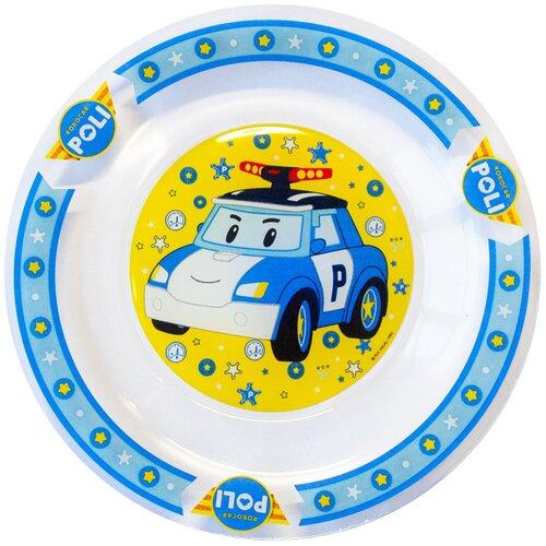 Набор для завтрака ND Play Робокар Поли Поли, 1 персона, 3 предм., прозрачный