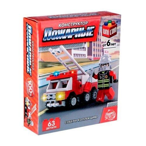 Купить Конструктор UNICON Пожарные 5164172 Пожарная машина, Конструкторы