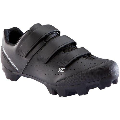 Велотуфли XC 100 черные, размер: 45, цвет: Черный/Черный ROCKRIDER Х Декатлон
