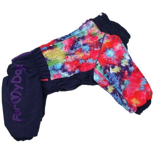 FOR MY DOGS комбинезон для собак фиолетовый/мультиколор для девочек FW945-2020 F (B3) for my dogs куртка для собак перышки серо красная для девочек fw492 2017 f b3