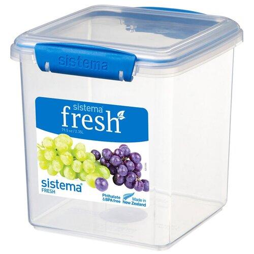 контейнер для печенья sistema 1 8 л 1333 Sistema Контейнер для печенья Fresh 921334/951334, 14.9x15.4 см, синий/прозрачный