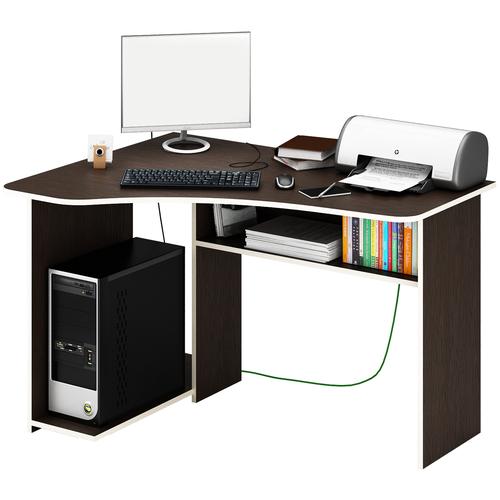 Фото - Компьютерный стол угловой MfMaster Триан-1, ШхГ: 120х90 см, угол: слева, цвет: венге левый стол компьютерный триан 1