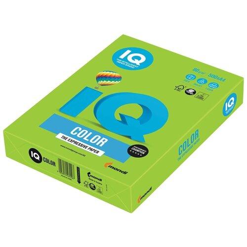 Фото - Бумага IQ Color A4 80 г/м² 500 лист., ярко-зеленый MA42 бумага iq color a4 80 г м² 250 лист 5 цв х 50 л тренд rb03