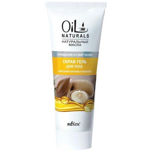 Bielita Скраб-гель для тела Oil naturals С маслами арганы и жожоба, 200 мл